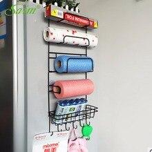 Multilayer Refrigerator Side Metal Storage Rack Kitchen Condiment Storage Hanger Rack Fridge Storage Organizer Kitchen Accessory