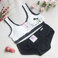 Brand Kids Bras Set Children Cat teenage girl sport bra Set Young Girls Training Bra and Panty Set Sutia Para Meninas Teenage