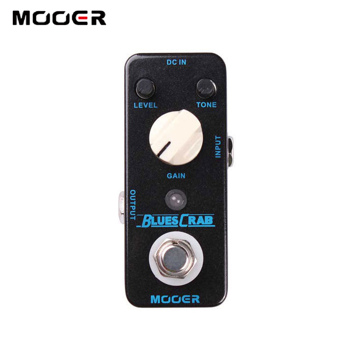 MOOER Blues Crab Delay effects Overdrive Sound Characteristic Pedal True bypass Guitar effect pedal mooer ensemble queen bass chorus effect pedal mini guitar effects true bypass with free connector and footswitch topper