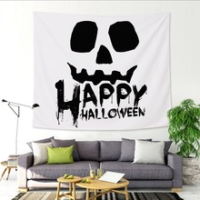 Horror Witchcraft Tapestry Wall Hanging Fabric Ghost Pumpkin Castle Bat Tapestry Halloween Decoration Home Psychedelic Tapestry pumpkin lamp wall art halloween tapestry