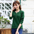4xl Polo Women Plus Polos Polo Button Down Shirts  Xxxxl Mujer Manga Larga Big Size Polo-shirt-women Green Plain Tops Spring