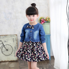 Baby Girls Clothing Denim Jacket + Flower Dress