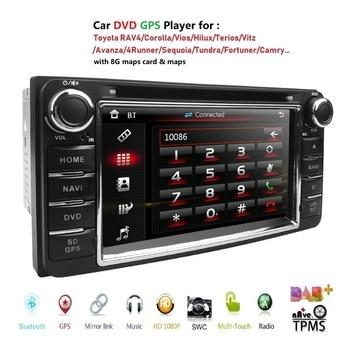 Car DVD Player GPS Navigation For TOYOTA Corolla Hilux Vios Zelas2011 Matrix Previa Prado Land Cruiser FJ Carmy 4runner Fortuner