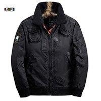 Idopy Men S Bomber Jacket Winter Warm With Fur Collar Rib Sleeve Slim Fit Thermal Parkas
