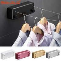 Home 4M steel wire Invisible Wall Hanger Indoor Retractable Solid Clothesline Retractable Clothesline clothes dryer
