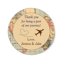 Love Birds Wedding Favor Stickers / Tags