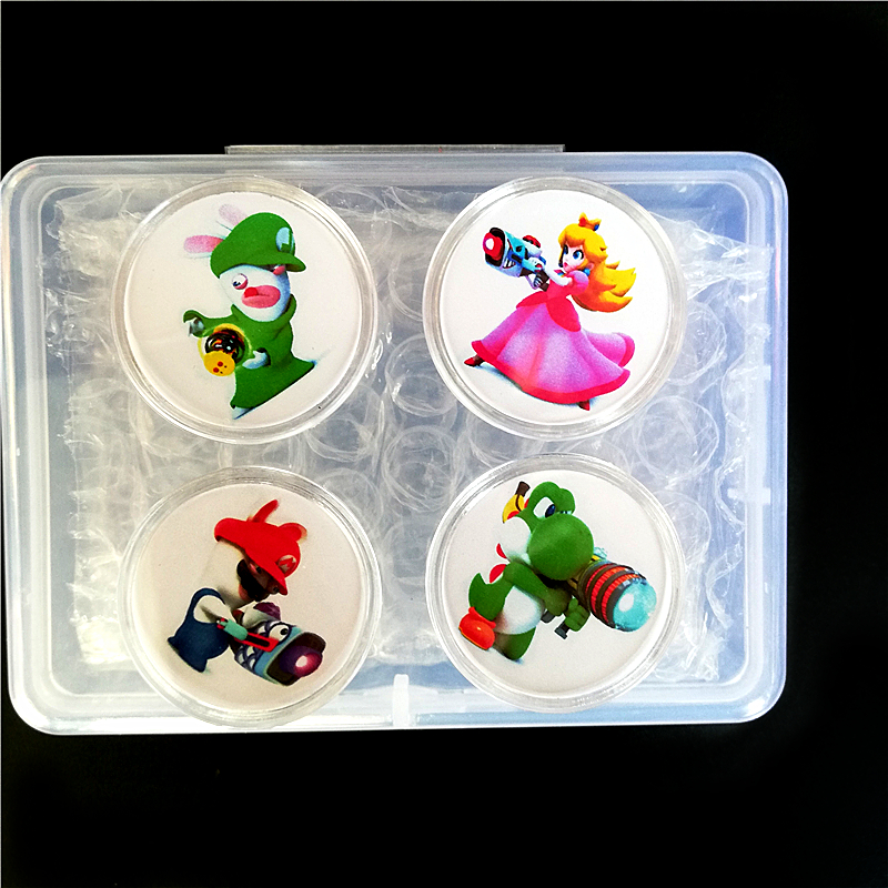 Fast Shipping Full Set 4Pcs Mario + Rabbids Kingdom Battle Collection Coin Game NFC Card Of Amiibo Tag NS Zelda Splatoon Kart