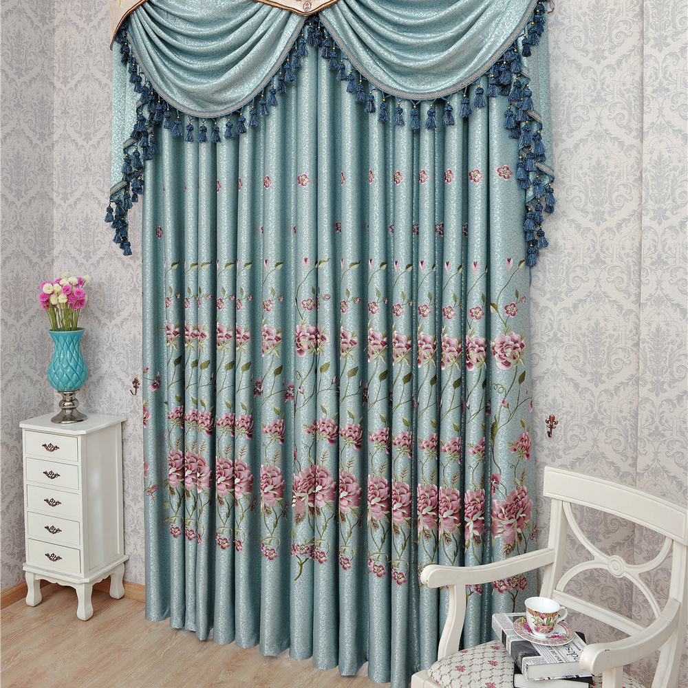 Ho how to tie balloon curtains - Literature And Art Style Custom Made Size Balloon Window Curtain Living Room Shade Embroidered Printed