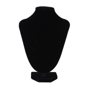 Necklace Pendant Display Stand Rack Black Velvet Jewelry Showing Holder Mannequin Choker Organizer Showcase