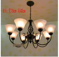 European style chandelier. Living room rural. American warm lamps