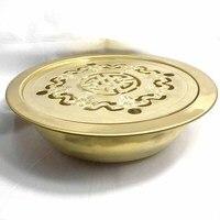 Kungfu tea set handmade brass tea table Chinese circle tea tray chahai copper tea set traditional teaware