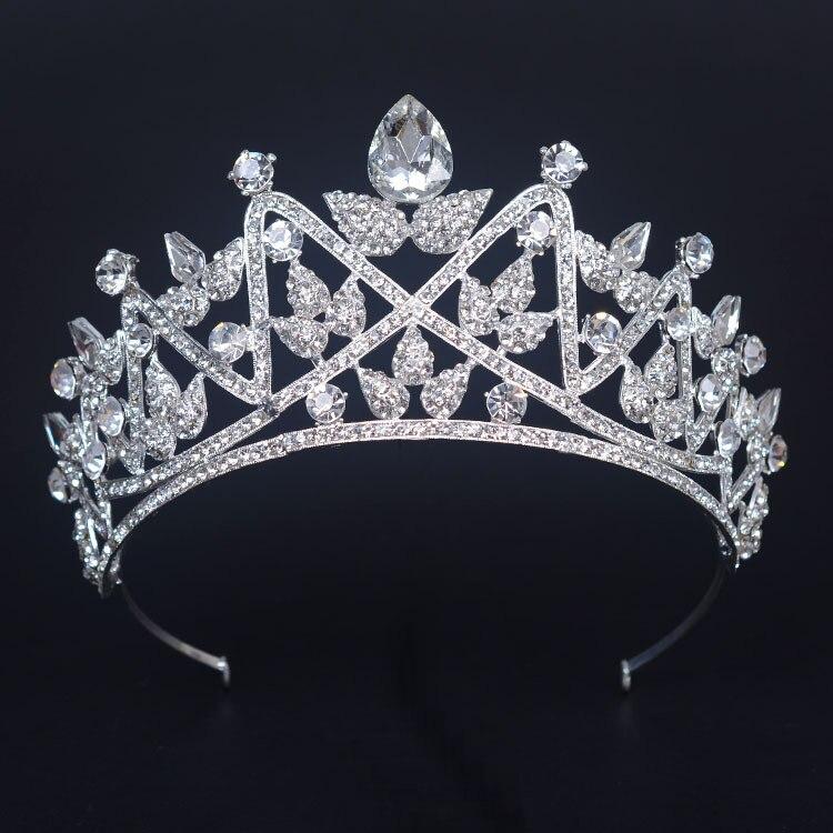 تيجان ملكية  امبراطورية فاخرة New-Arrival-Luxurious-Rhinestone-font-b-Miss-b-font-beauty-pageant-big-Diadem-Fashion-Noble-Crystal