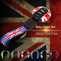 MINI Cooper Genuine Car Key Cap Case Cover Protector Holder Union jack flag style