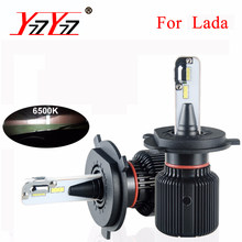 YzzYzz H4 H7 Led Fanless Car Headlight Bulbs 12V PSX24W PSX26W 9005 9006 Auto Light 6500K H8 H9 H11 8000Lm Fog Lamps Canbus Bulb(China)