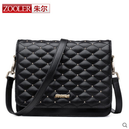 ФОТО ZOOLER high quality Famous brand women bag  genuine leather bag fashion  Women Shoulder Messenger Bag