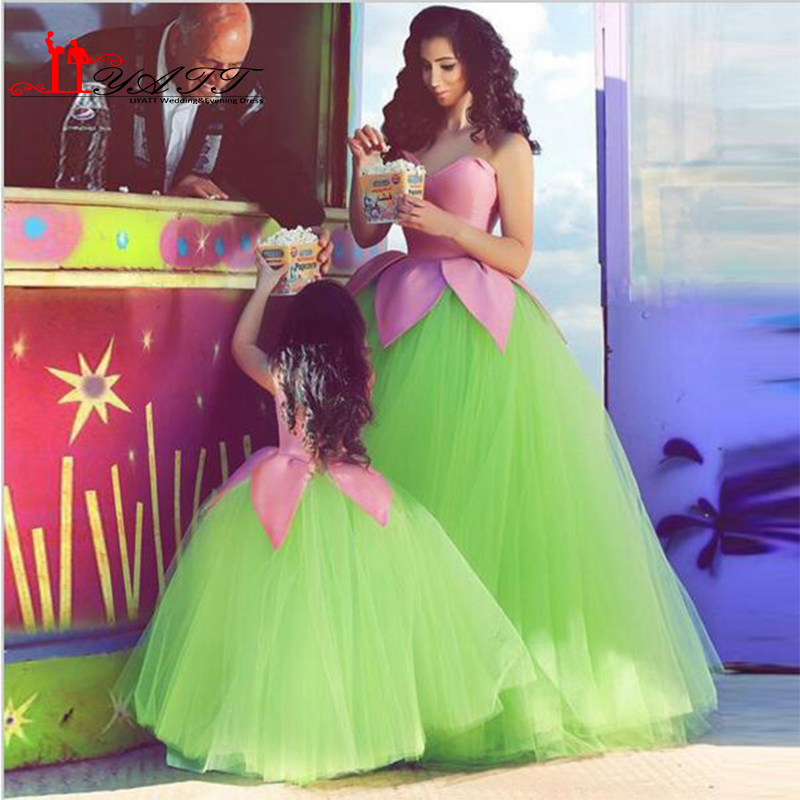 Beautiful Kids Prom Dresses Tulle Little Girls Ball Gowns Arabic