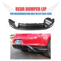 Carbon Fiber Rear Bumper Lip Diffuser Spoiler for Volkswagen VW Golf 7 VII MK7 Standard GTI 2014 2017 Exhaust Diffuser