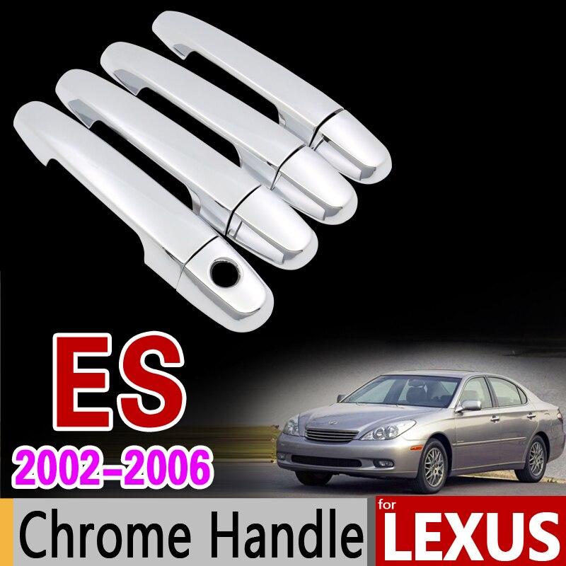 for Lexus ES 2002 - 2006 Chrome Handle Cover Trim Set ES300 ES330 XV30 2003 2004 2005 All Model 4Dr Car Accessories Car Styling for toyota isis platana 2004 2015 chrome handle cover trim set 2005 2006 2007 2008 2010 2012 2013 2014 accessories car styling