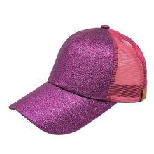2018 hot Ponytail Baseball Cap Women Messy Bun Baseball Hat Summer Mesh  Trucker Hat Snapback Girl 96f7883fe58a