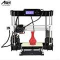 Anet a8 3d kit de impressora reprap prusa i3 precisão 2 diy fácil montar máquina de filamento + foco + cartão sd + lcd tela de moscou armazém