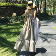 LANMREM Korean Overknee Loose Large Size Ruffles Sleeveless Camisole Casual 2020 Summer Sexy Fashion New Straps Dress YG93102