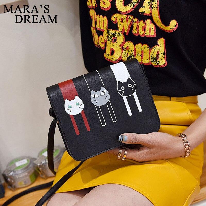 mara o sonho de 2017 Women Messenger Bags Main Material : High Quality PU + Polyester Women Candy Color Crossbady Bag