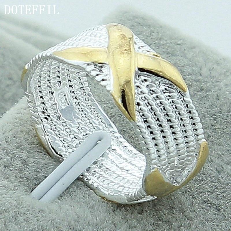 Silver Fashion Jewelry Women Wedding <font><b>X</b></font> Rings For Women Size <font><b>5</b></font> 6 7 <font><b>8</b></font> <font><b>9</b></font> 10 Wholesale Price High Quality Promotion Birthday Gift