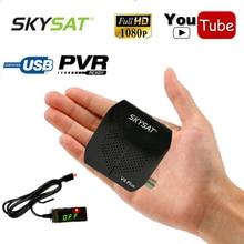 SKYSAT 1080P HD AC-3 DVB-S2 Digital Satellite Receiver TV Tuner Support WiFi IKS CS Youtube Cline Newcamd Power Vu Biss Key