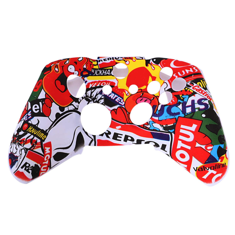 9 в 1 камуфляжная силиконовая защитная обложка, кожаный чехол для Microsoft Xbox One X S контроллер с 8 силиконовый захват большого пальца шапки