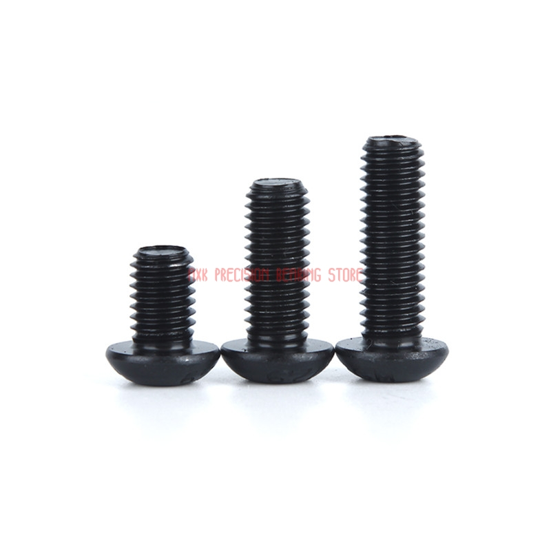2019 New Drywall Parafuso Parafusos 10pcs 12.9 Grade M3 M4 M5x6/8/10/12/16/20/25 Mm Black Hexagon Socket Head Screws Round Cup2019 New Drywall Parafuso Parafusos 10pcs 12.9 Grade M3 M4 M5x6/8/10/12/16/20/25 Mm Black Hexagon Socket Head Screws Round Cup