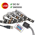 Waterproof USB LED Strip Light 5050 RGB Strip DC5V 50CM 1M 2M Flexible LED Light TV Background Lighting With 24keys Remote