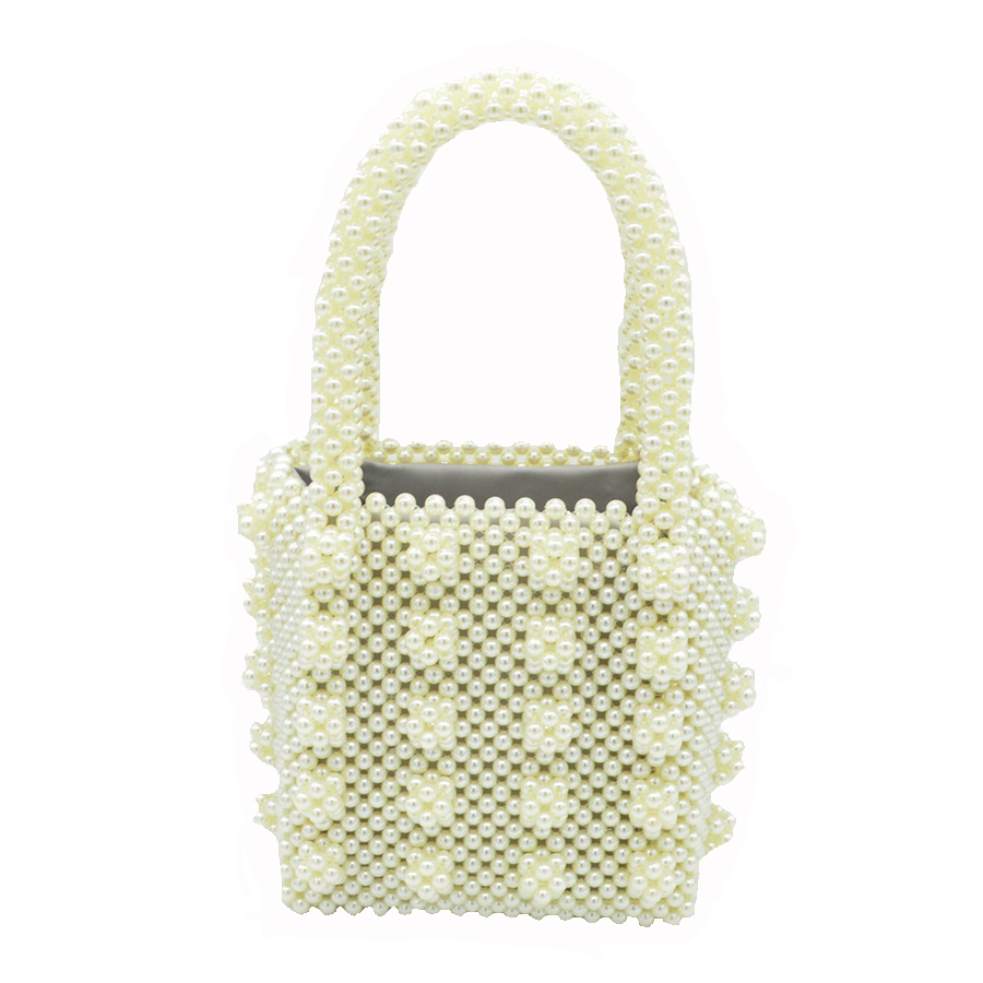 Dream blingbling luxury crystal pearl bags hand woven beaded bag brand  female handbag elegant evening bag design quality handbag-in Top-Handle Bags  from ...