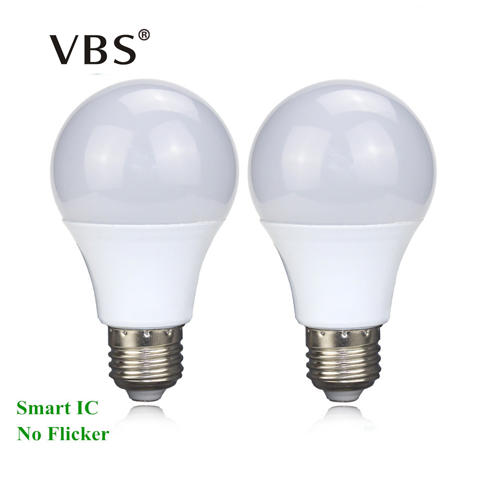 1Pcs Led Bulb 220V E27 3W 5W 7W 9W 12W 15W Real Power LED Bulb Lamp 2835SMD LED Spotlight Bulb No Flicker Energy Saving