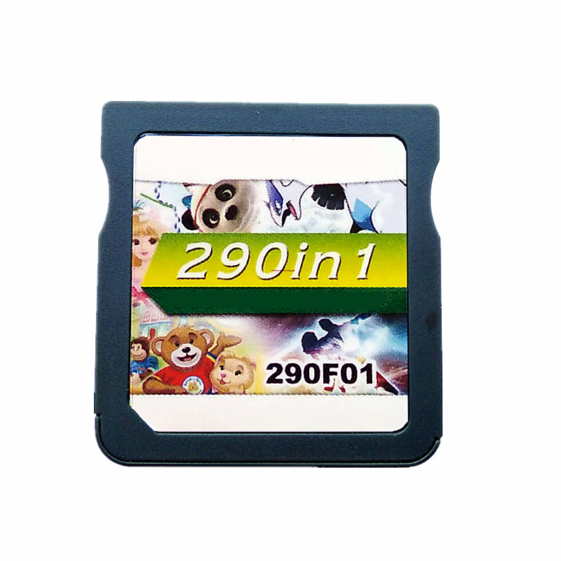 Free Shipping 290 IN 1 Game Cartridge Card for DS Video Game