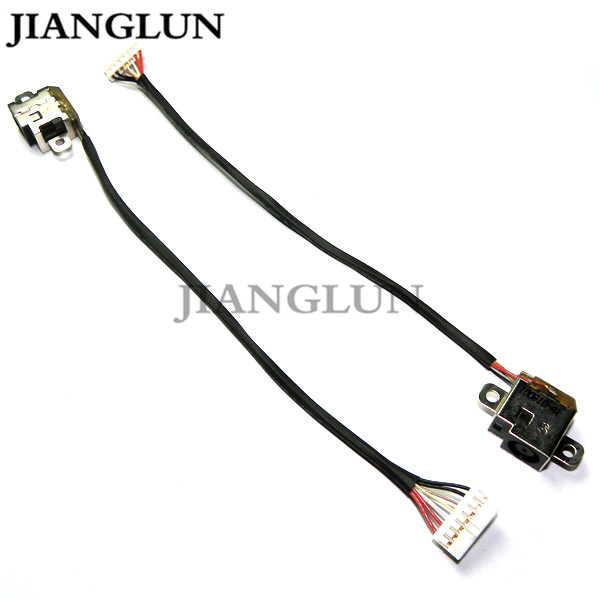 JIANGLUN 5X New DC Power Jack With Cable Harness For HP