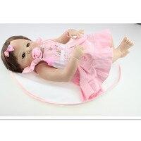 50 CM Silicone Reborn Baby Doll Educational Toys for Children's Birthday Gift,Vivid Boncas Reborn Doll Kids Toys Brinquedos