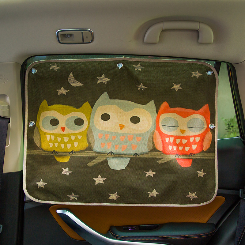Image 5 - Car Windshield Car Sun Shade Curtains Cute Cartoon Car Styling Rear Side Window Sunshade Protect Window Curtains 70cm*50cm-in Side Window Sunshades from Automobiles & Motorcycles