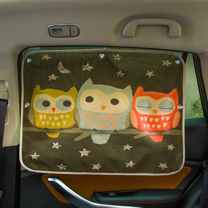 Image 5 - Rideaux pare brise de voiture, 70cm x 50cm, rideaux de protection pour fenêtre arrière en dessin animé de voiture