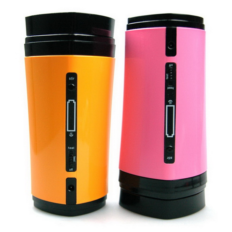 Novelty Battery Charging Rechargeable USB Powered Drinkware Coffee Mixing Tea Cup Mug Warmer