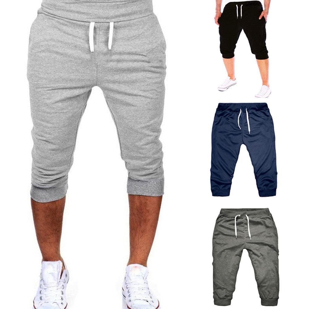 2019 New Summer Men Gym Workout Jogging   Shorts   Pants Fit Elastic Casual Sportswear 3.22
