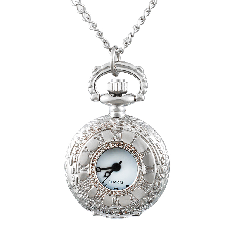 FUNIQUE 2017 New Women Girls Quartz Pocket Watches Silver Tone Necklace Chain Fashion Pocket Watches For Women Clock Pendant old antique bronze doctor who theme quartz pendant pocket watch with chain necklace free shipping