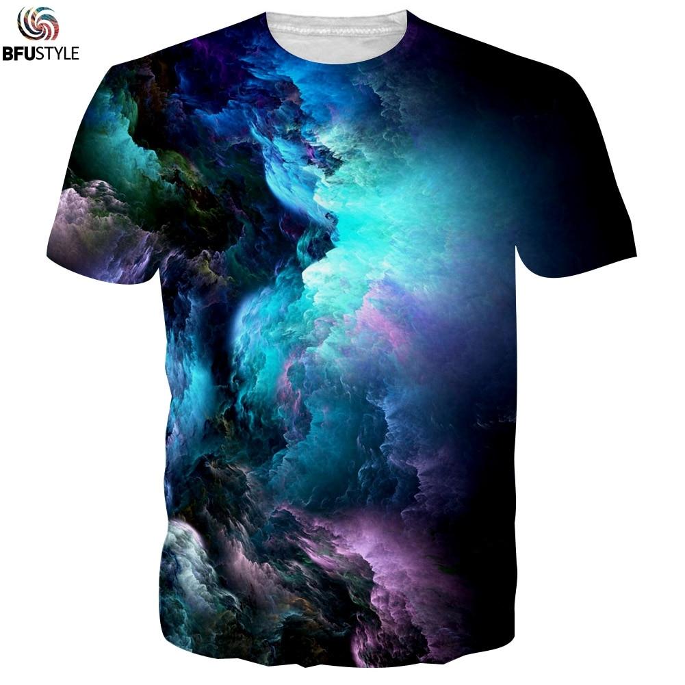 men 39 s graphic t shirt 2017 cloud pattern 3d printed tshirt poleras hombre casual summer tops. Black Bedroom Furniture Sets. Home Design Ideas
