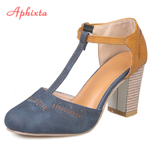 Aphixta Summer Women Pumps Heels Shoes Women Ladies Classics