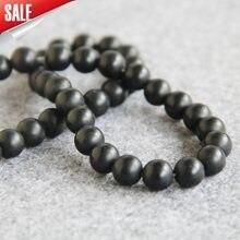 1c74f4b3decd Para collar y pulsera 10mm de ónix negro esmerilado granos de piedra  naturales ronda DIY suelta cornalina de joyas de Niña Acces.