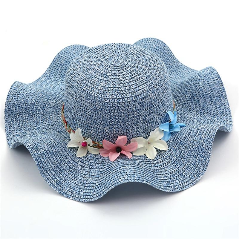 Nowa moda Dziecko Dziewczęta i Mama Słoma Kwiaty Kapelusz - Odzież dla niemowląt - Zdjęcie 4