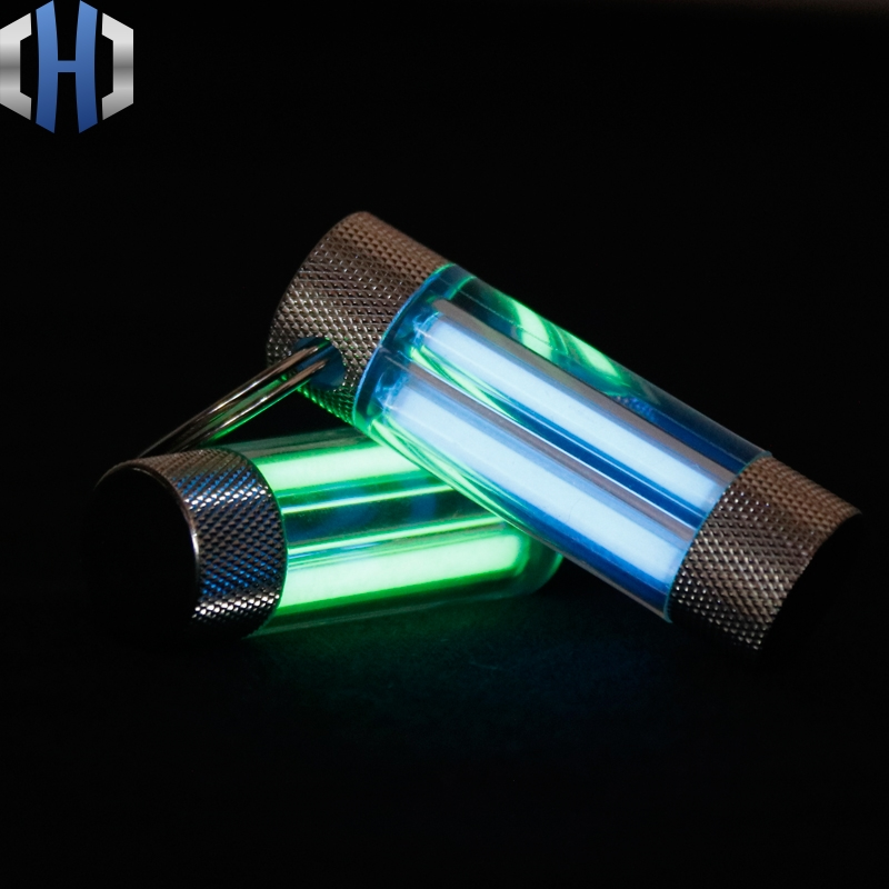Tritium Tube Key Ring Double Tritium Tube Key Ring Self-illuminating Fluorescent Stick Light Stick EDC