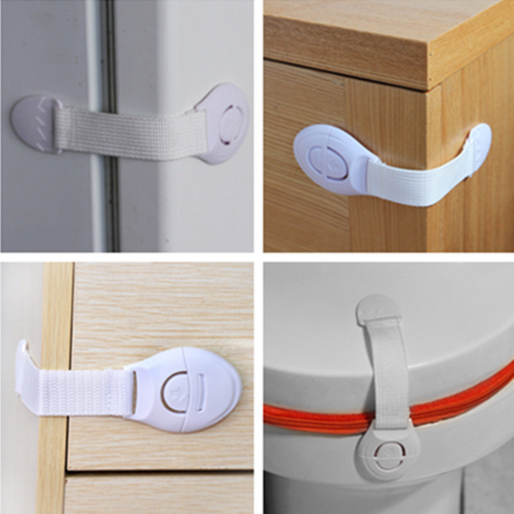 500Pcs Cabinet Door Drawers Refrigerator Toilet Lengthened Bendy Safety Plastic Locks For Safety 500pcs her108 do 41