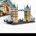 Juguetes wange grandes modelos london bridge building block sets educación diy juguetes de los ladrillos 8013 diy modelo de colección de regalo