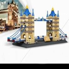 Toy Wange Great models London Bridge Building Block Sets Educational DIY Bricks Toys 8013 DIY Model Collection Gift