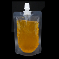 Clear Plastic Doypack Jelly Liquid Packing Spout Bag Transparent Stand Up Drinking Wine Empty PE Poly Package Pocket Bag Retail
